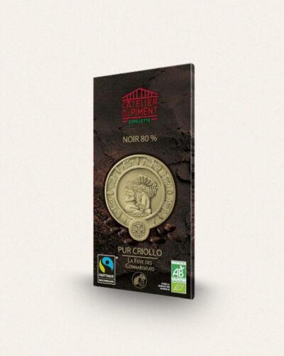 Atelier du piment, Chocolat Noir 80%